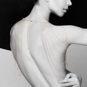 Bijoux Magnifique Metallic Chain Shoulders & Back Jewellery