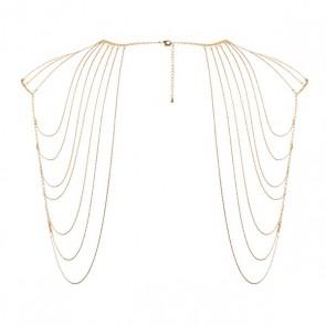 Bijoux Magnifique Metallic Chain Shoulders & Back Jewellery