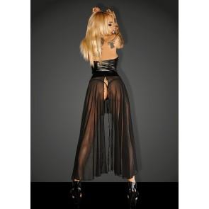 Noir Power Wet Look Long Dress