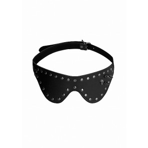 Ouch! Skulls and Bones Eye Mask with Skulls & Spikes Black