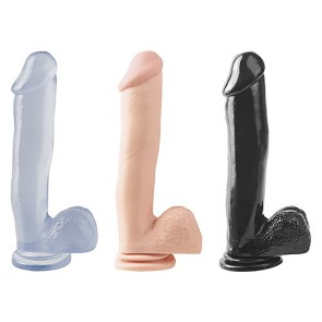 Basix Rubber Works 12 inch Suction Cup Dong