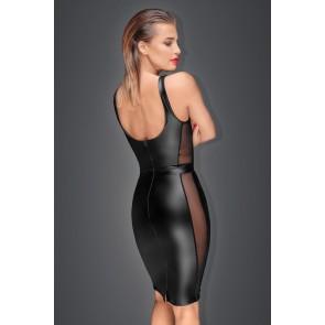 Noir Power Wet Look Pencil Dress