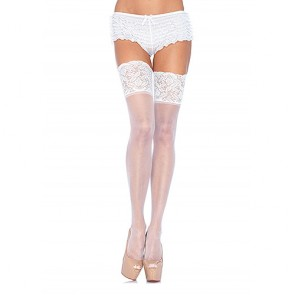 Leg Avenue Plus Size Stay Up Sheer Thigh High Stockings