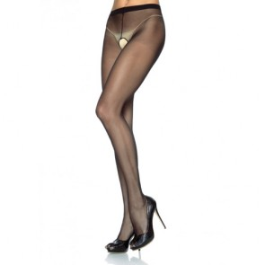 Leg Avenue Sheer Crotchless Pantyhose