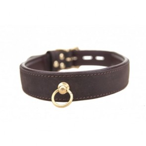 BOUND Nubuck Leather Choker with 'O' Ring