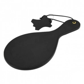 Bound Noir Nubuck Leather Paddle with Brass Stud Detail