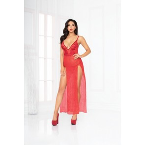 Seven til Midnight All That Glitters Gown Set in Red