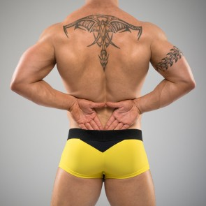 SUKREW Full Trunk in Yellow & Black
