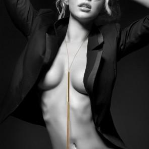 Bijoux Magnifique Metallic Chain Whip & Necklace