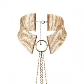 Bijoux Désir Métallique Metallic Mesh Gold Collar
