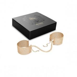 Bijoux Désir Métallique Gold Metallic Mesh Handcuffs