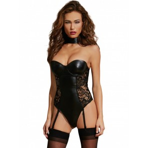 Dreamgirl AIS Black Garter Teddy