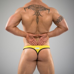SUKREW Full Thong in Yellow & Black
