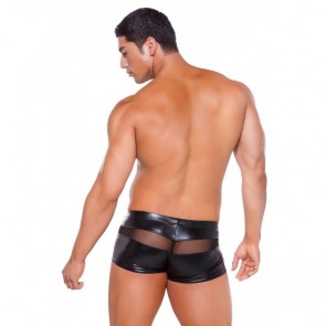 Allure Zeus Wet Look Peek A Boo Shorts