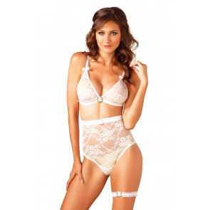 Bridal High Waisted Bra Set