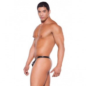 Allure Zeus Wet Look Zipper Thong