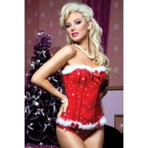 Jingle All The Way Glitter Mesh Bustier