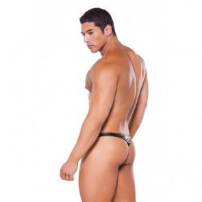 Allure Zeus Leather & Wet Look Thong