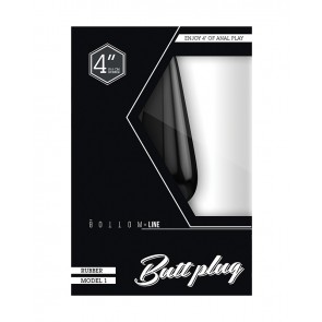 BOTTOM LINE Rubber Buttplug - Model 1