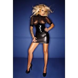 Noir Wetlook & PVC Dress