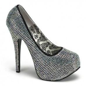 Teeze: Rhinestone Platform Court Shoe
