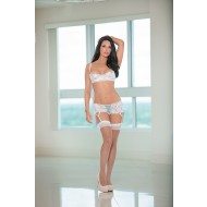 Bridal Shelf Bra Set with Gartini & Stockings