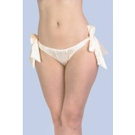 Gypsy Side-Tie Cream Satin Knicker