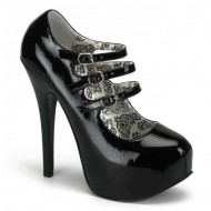 Teeze: 3 Buckle Strapped Court Shoe