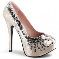 Teeze: Pump Adorned with Sequins