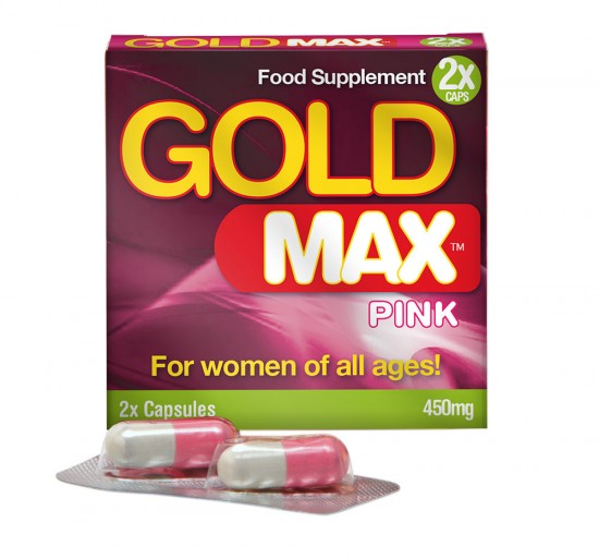 Gold Max Pink 2 x 450mg Capsules Enhancer for Her