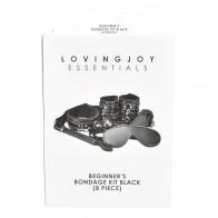 Loving Joy Beginner's 8pc Bondage Kit