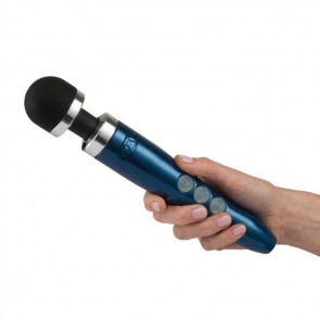 DOXY Die Cast 3R Rechargeable Wand Massager - Blue Flame