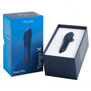 Tango X by We-Vibe Lipstick Rechargeable Bullet Clitoral Vibe - Midnight Blue