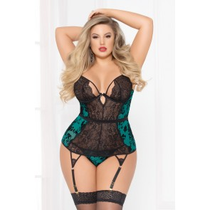 Simply Gorgeous Bustier Set - Plus Size