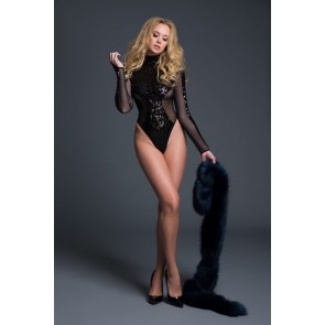 Adore By Allure Glamorous Sequins & Sheer Body