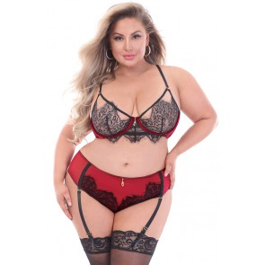 Forever Yours Lace Bra Set - Plus Size