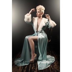The Hollywood Peignoir Tiffany Blue