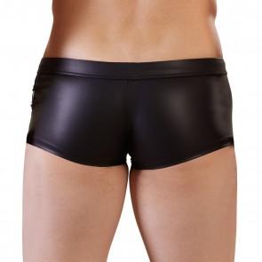 NEK Wet Look Shorts with Powernet Panels