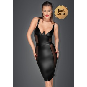 Noir Power Wet Look Pencil Dress