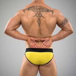 SUKREW Full Brief in Yellow & Black