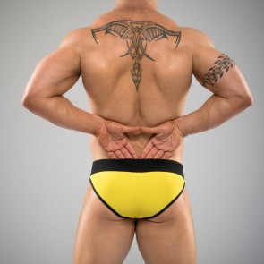 SUKREW U Brief in Yellow & Black