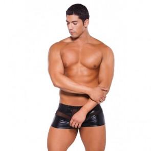 Allure Zeus Wet Look Peek A Boo Shorts