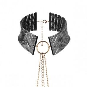 Bijoux Désir Métallique Metallic Mesh Black Collar