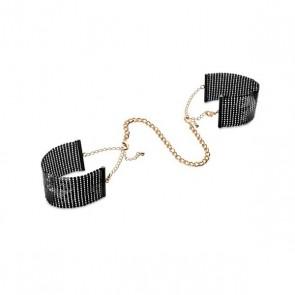Bijoux Désir Métallique Black Metallic Mesh Handcuffs