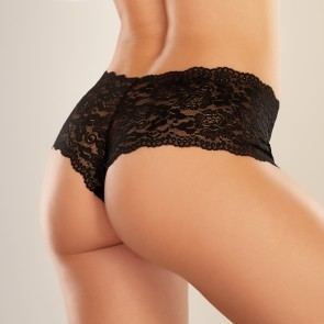 Adore by Allure Candy Apple Crotchless Lace Boyshorts
