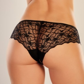 Adore by Allure Sweetheart Crotchless Lace Knickers