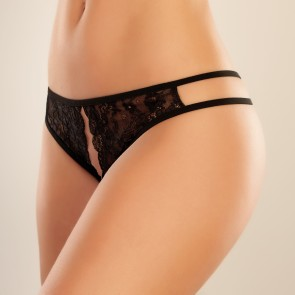 Adore by Allure Sweet Honey Crotchless Sheer Mesh Knickers