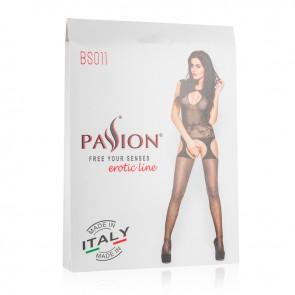 Passion Floral Detail Suspender Bodystocking