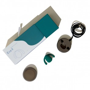 DAME PRODUCTS - EVA II HANDS-FREE COUPLES VIBRATOR - FIR GREEN
