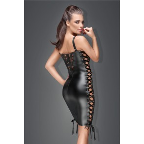 Lace and Power Wetlook Minidress